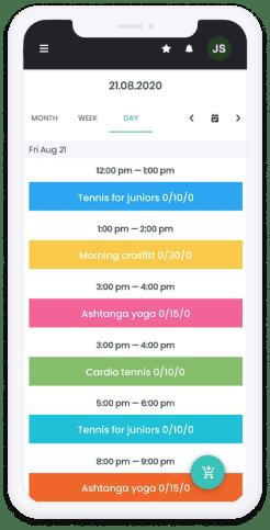 Sportpass kalendář v telefonu